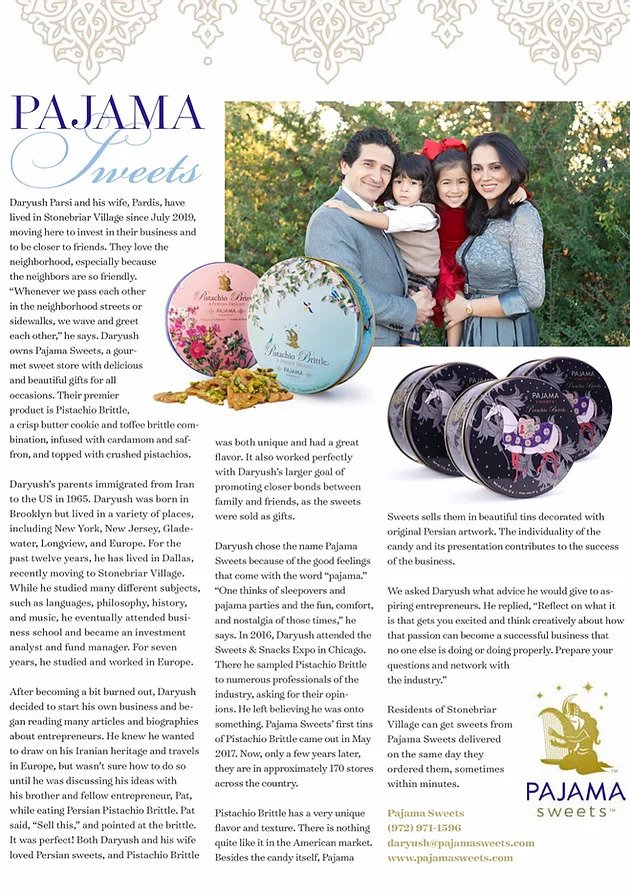 Pajama Sweets Stonebriar Village Life article
